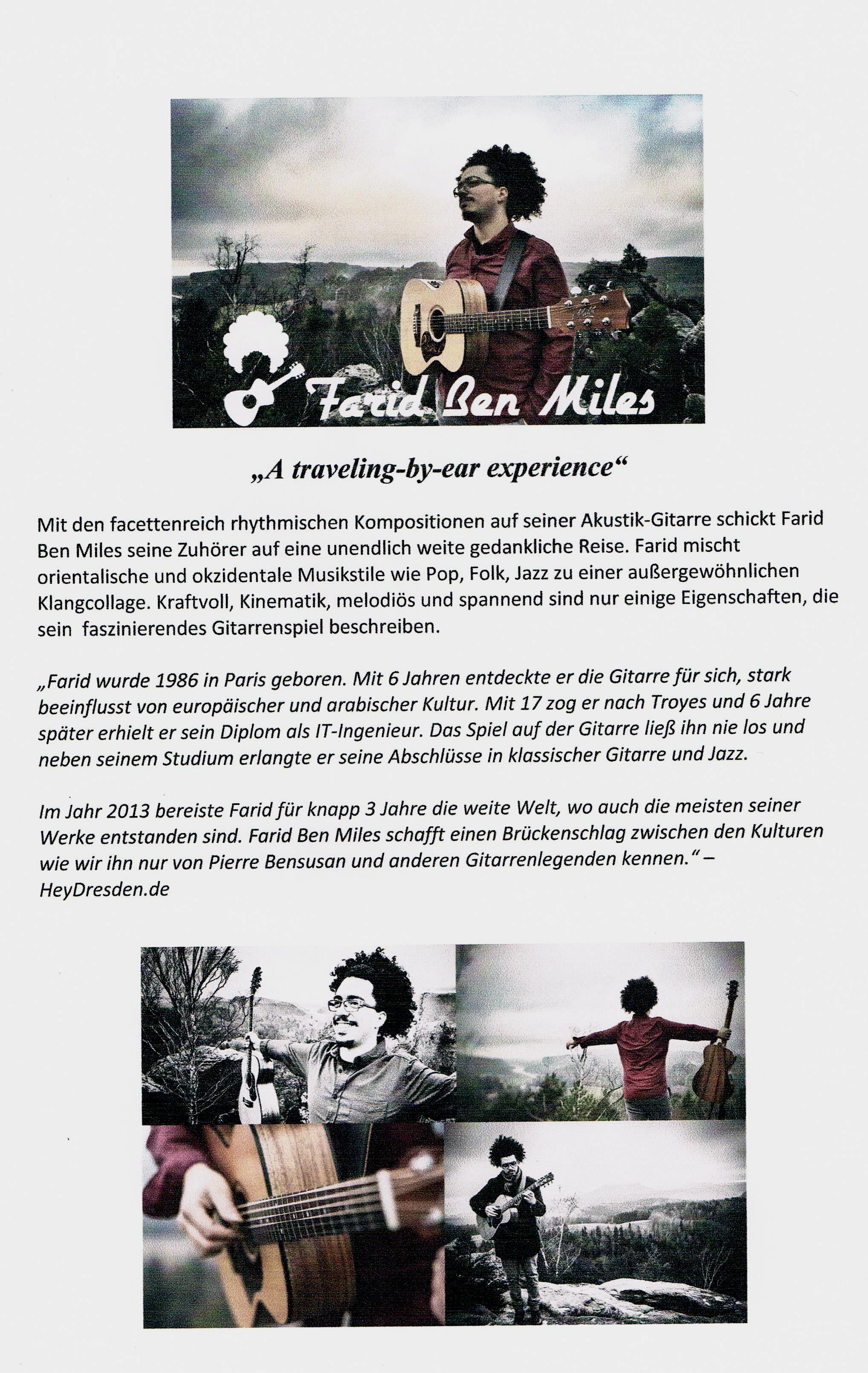 Farid Ben Miles (F) .....ein akustisch - pures Klangerlebnis ...